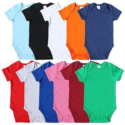 Newborn Kid Baby Boy Girl Cotton Romper Jumpsuit Bodysuit Clothes Outfit 11Color