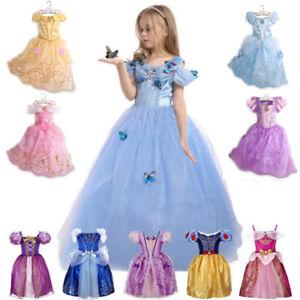 b959aa13c2ad3 Détails sur Filles Robe de Princesse Déguisement Rapunzel Belle Cendrillon  Sofia Cosplay