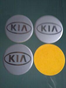 KIA 4 x 55mm Alu Emblem Felgen Aufkleber Logo Nabendeckel Nabenkappen