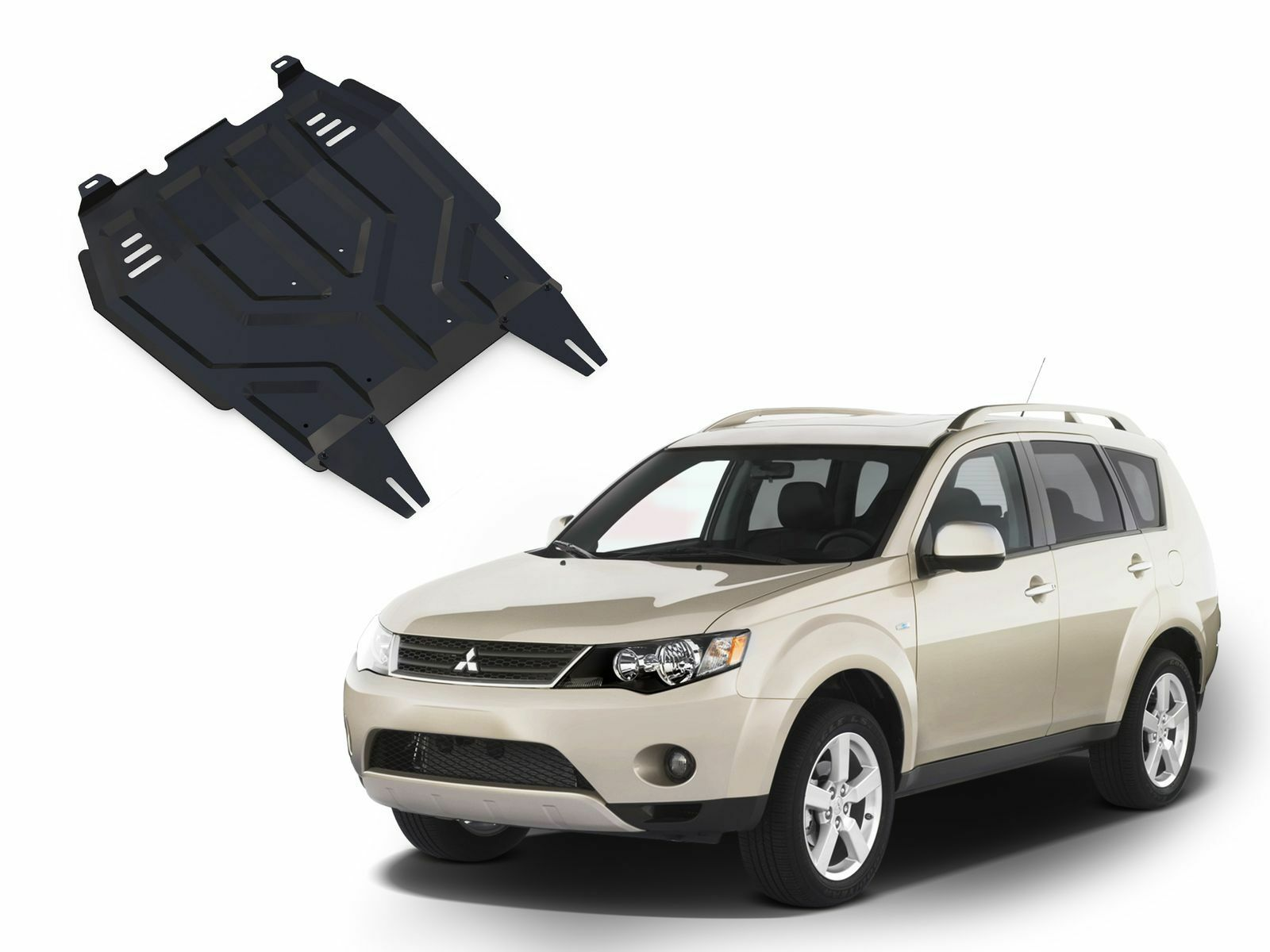 Details about MITSUBISHI OUTLANDER 2007-2012 ENGINE + GEARBOX GUARD SKID  PLATE UNDERTRAY