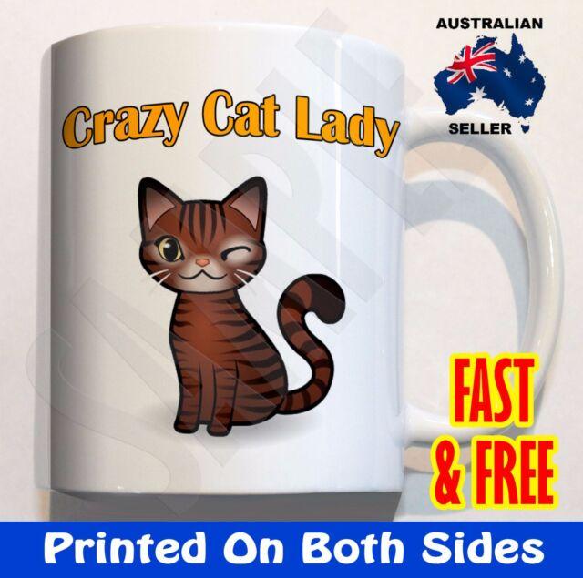 Crazy Cat Lady COFFEE MUG gift funny work mum mother birthday xmas gift idea