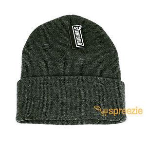 Dark Grey Beanie Plain Knit Ski Hat Skull Cap Cuff Warm Winter Blank ... d2a8c62bfc66