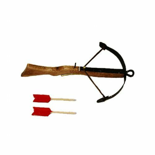 Dollhouse Artisan Harville Wood Renaissance Crossbow /& Arrows Archery Miniature