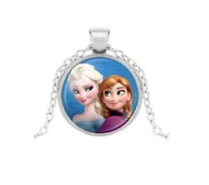 Collier Pendentif Elsa et Anna + Chaine - Bijoux des Lys