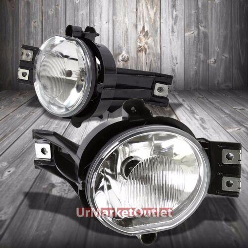 Clear Lens Chrome House Bumper Reflector Fog Light For Dodge 02-09 Ram//Durango