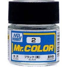 GSI Creos Gunze Mr Hobby Color Lacquer C2 Black Gloss Paint 10ml