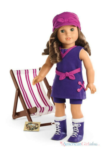 "American Girl REBECCA SEASHORE SET for 18/"" Dolls Swimsuit Historical Hat NEW"