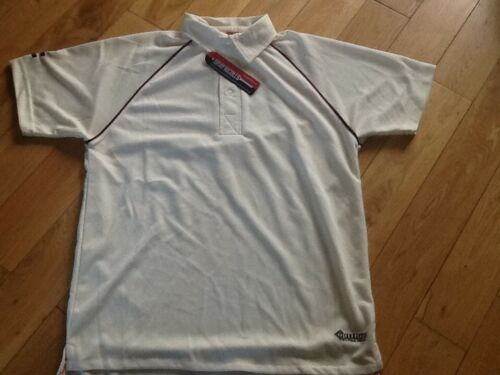 Cricket Boy/'s gray nicolls shirt white with maroon trim size Small Boys