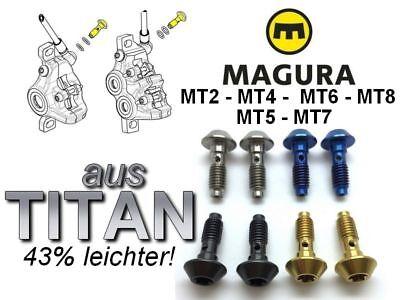"MAGURA MT /""next/"" 2 Plug Screws in TITANIUM 4 O-rings 4 Colors on Choice!"