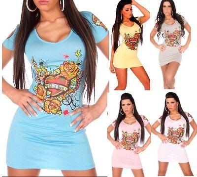 Obbiettivo Miniabito Vestitino Donna T-shirt Lunga Vestito Koucla B053 Tg M/l L/xl Ad Ogni Costo