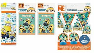 Image Is Loading Minions Birthday Pack Invitations Loot Bags Banner Swirls