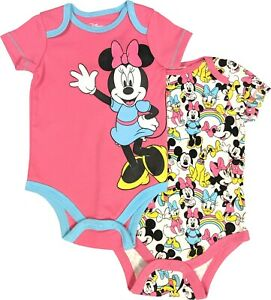 Disney Mickey Mouse One Piece Creeper Outfit 2 Pack for Babies Size 12 Months