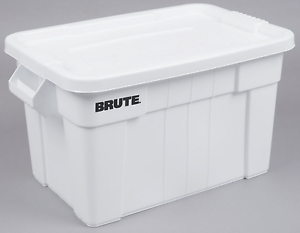 Image is loading 20-Gallon-Brute-Storage-Container-Bin-Tote-Heavy-  sc 1 st  eBay & 20 Gallon Brute Storage Container Bin Tote Heavy Duty Organizer Lid ...