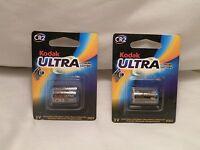 Kodak Ultra Cr2, 3v Photo Lithium Battery, Expiration:- 2023 Lot Of 2 Sealed