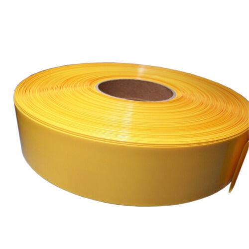 Yellow PVC Heat Shrinkable Tube Wrap RC Battery Pack Sleeve 23~180mm//Φ14.5~115mm
