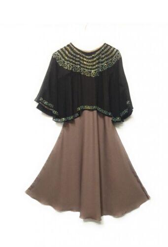 GIRLS BLACK ABAYAJILBABMOSQUEMADRESSAHISLAMIC CLOTHING