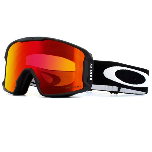 e2f38750ef65 Oakley Ski Goggles Line Miner XM OO7093-04 Matte Black Prizm Torch iridium