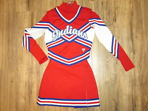 REAL HS Cheerleader Uniform Outfit Indians Complete 3 Piece 32/23 Varsity Teen