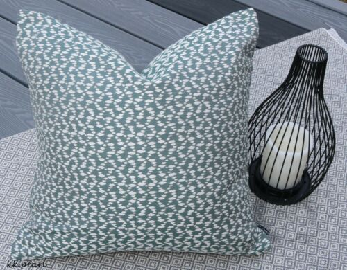 "Green John Lewis /& Partners /""Logan/"" Fabric /& Cushion Pillow Cover 16/"" Woven"
