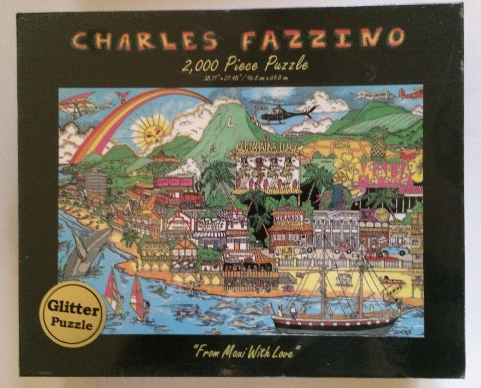 Charles Fazzino 'From Maui With Love' 2000 Piece Glitter Puzzle Brand Nuovo Sealed