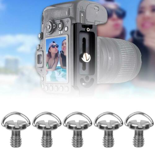 """5Pcs Metal 1//4 Camera Screw for Quick Release Plate 1//4/"""" Folding C-ring Adapter"""