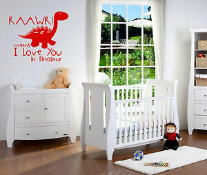 Image Is Loading Dinosaur Raaw Means I Love You Wall Art