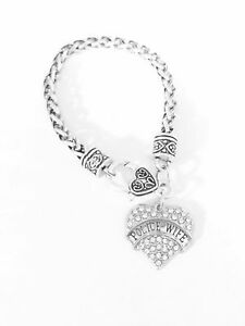 Details About Police Wife Charm Bracelet Gift For Law Enforcement Officer Jewelry