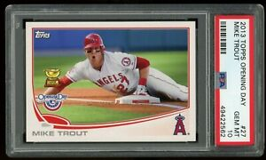 2013-TOPPS-OPENING-DAY-ROOKIE-CUP-27-MIKE-TROUT-PSA-10-GEM-MINT-ANGELS-MVP