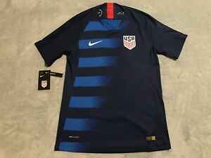 00beb0203 Nike 2018 U.S. Vapor Match Away Soccer Jersey Men s sz SMALL S Blue ...