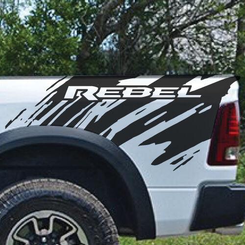 Dodge Ram Rebel Splash Grunge Logo Truck Vinyl Decal bed Graphic Reflective Cast