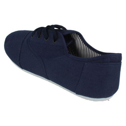 Mens Maverick Canvas Lace Up Shoes A2R074