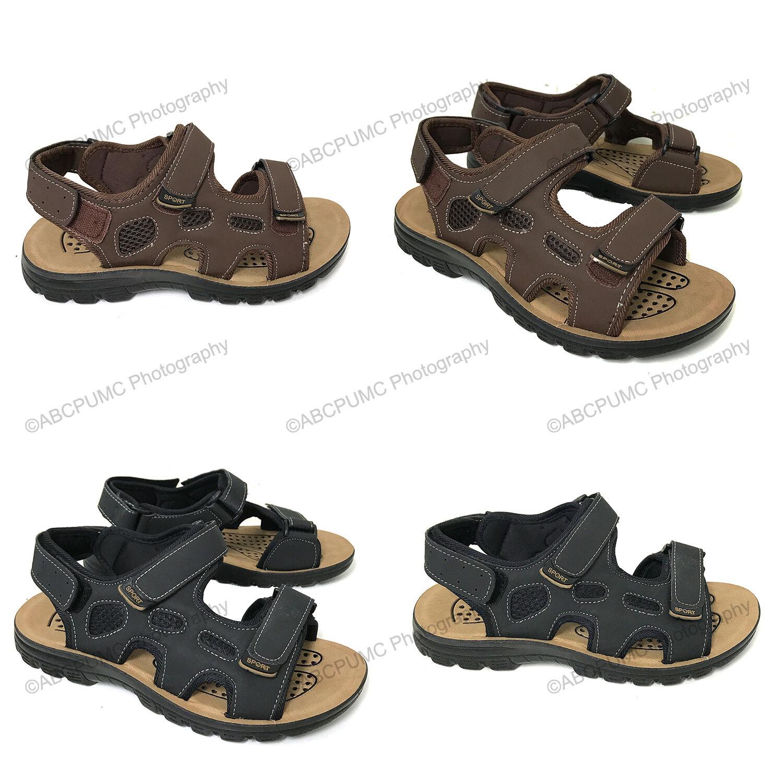 New Men's Sandals Hook Toe and Loop Casual Open Toe Hook Trail Sport Beach Walking Hiking 0489b2