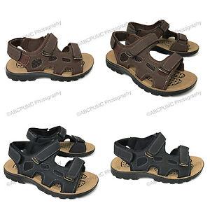 New-Men-039-s-Sandals-Hook-and-Loop-Casual-Open-Toe-Trail-Sport-Beach-Walking-Hiking
