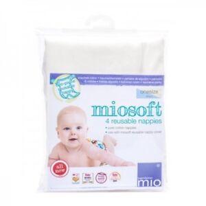 Bambino Mio Miosoft Riutilizzabile Pannolino una taglia 4 Pannolini Confezione 100% cotone assorbente  </span>
