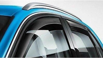 NEW Genuine Audi Q7 4M 2016 MY onwards Wind Deflectors Front /& Rear