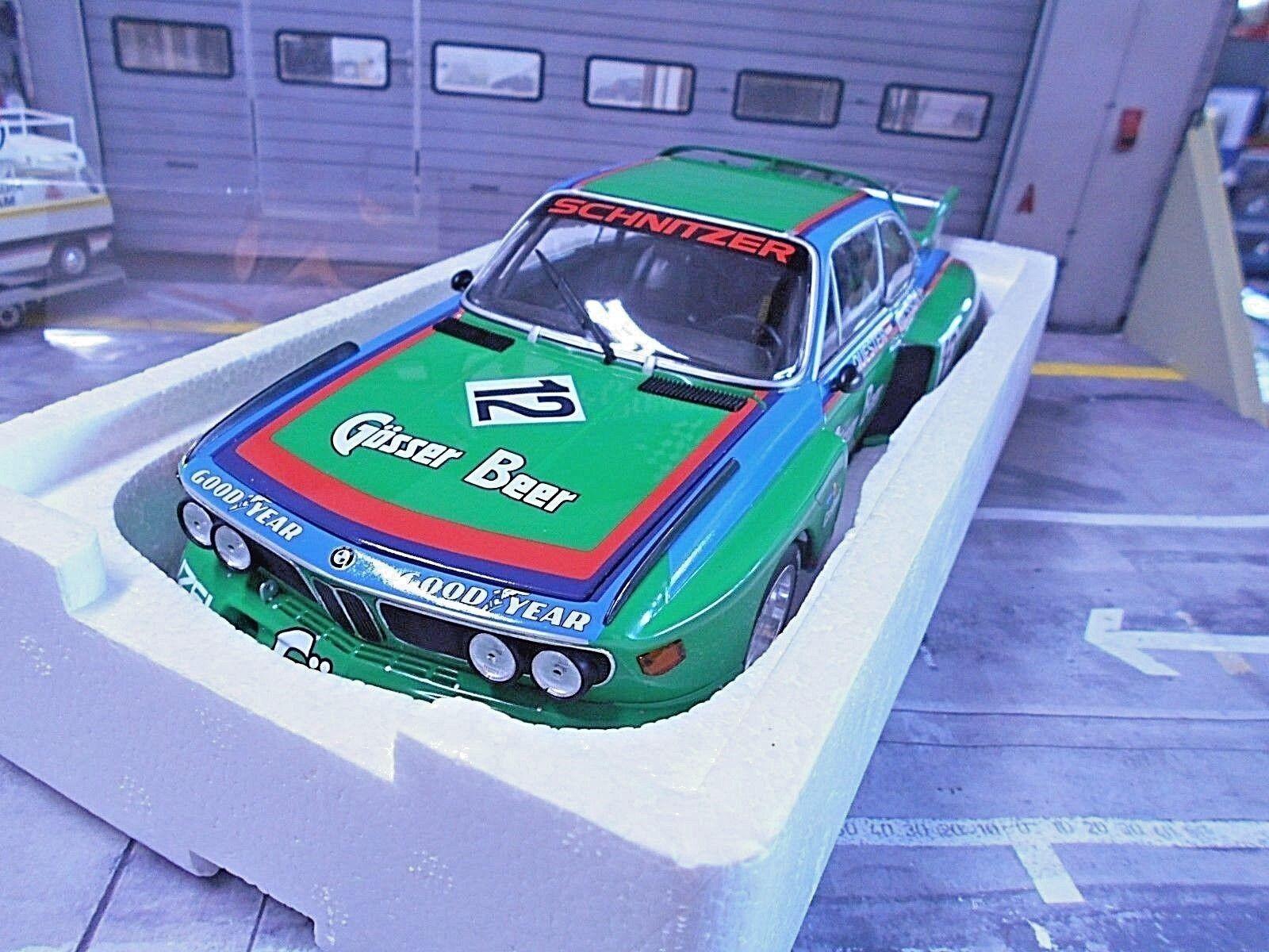 BMW 3.5 CSL Boulette Quester Nilsson Gösser Bière Zeltweg WIN MINICHAMPS 1 18