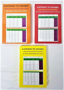 Details about Gateway to Arabic Flashcards - Verb Conjugation Flashcards -  3 Pack Set