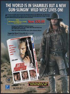 STEEL-FRONTIER-Original-1995-Trade-AD-ADVERT-Joe-Lara-Bo-Svenson-Brion-James