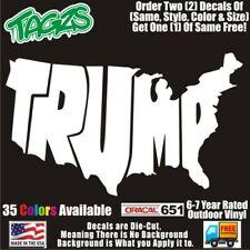 Trump Usa Funny Diecut Vinyl Window Decal Sticker Car Truck Suv Jdm