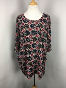 71da20898a0 Lularoe Irma Tunic Shirt NEW NWT 3XL Geometric Floral PLUS BRIGHT ...