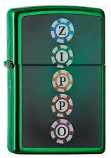 ZIPPO Feuerzeug CHIPS in Meadow Green Casino Chips NEU OVP Sammlerstück!!