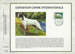 FEUILLET-CEF-1er-JOUR-MONACO-EXPOSITION-CANINE-INTERNATIONALE-1984