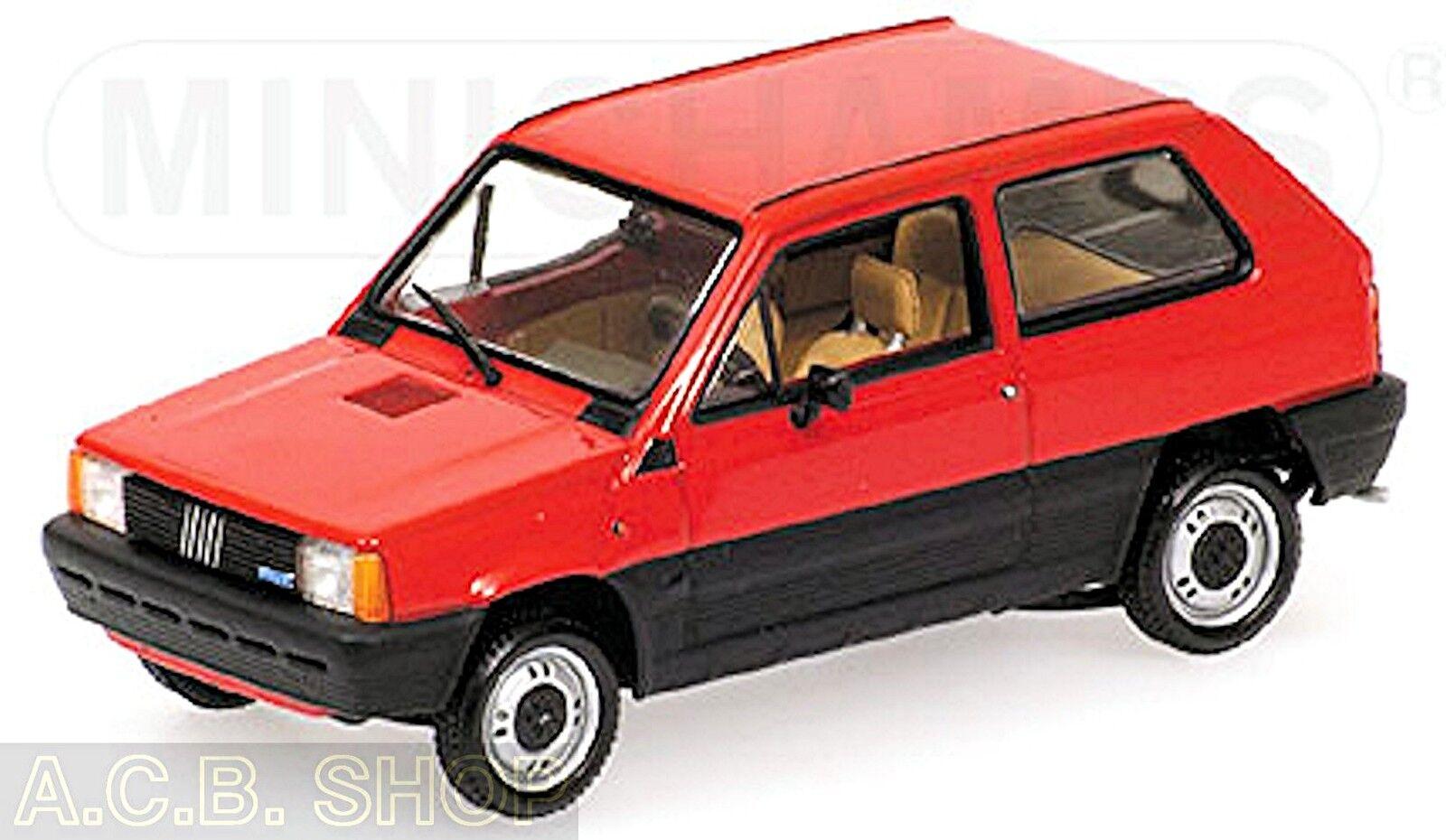 centro comercial de moda Fiat Panda Panda Panda 45-1980-2003 Rojo rojo 1 43 Minichamps  Obtén lo ultimo