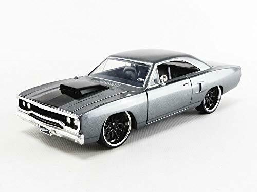 Jada 1970 Plymouth Road Runner Grey Doms Fast /& Furious 1//24 Scale Diecast 30745
