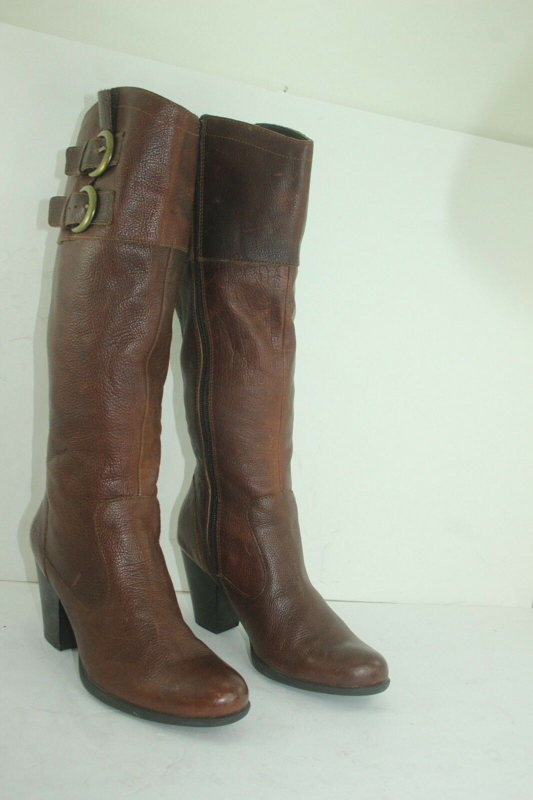 BORN B.O.C. BOOTS LEATHER BROWNS SIZE 7 IN GREAT CONDITION