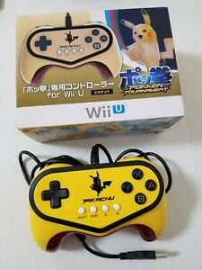 Nintendo Wii U HORI Pokken Tournament Pikachu Controller Pro Pad Japan 0531A6