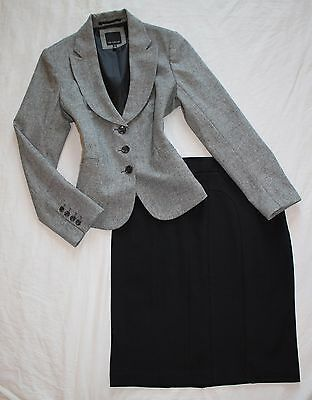 THE LIMITED Size 12 Women's Skirt Suit Gray & Black PERFECT!