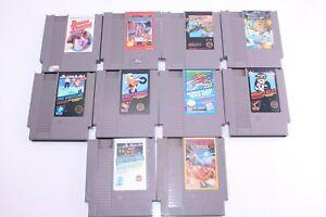 Nintendo-Entertainment-System-NES-Vintage-Lot-Of-10-Mixed-Genre-Video-Games