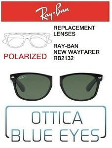 Lenti-di-Ricambio-RAYBAN-NEW-WAYFARER-RB2132-Replacement-Lenses-Ray-Ban-POLAR-58