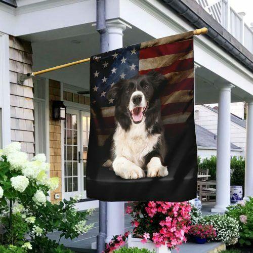 Border Collie American House Flag Garden Flag